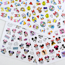 Disney Cartoon Anime Mickey Minnie Mouse Snow White Nail Art Sticker Donald Duck Frozen Nail Art Decoration Decal Allah Magic La