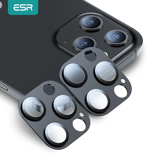 ESR Camera Len Film for iPhone 12 Camera Len Glass Screen Protector for iPhone 12 mini 12 Pro Max Tempered Glass Protective 2PCS