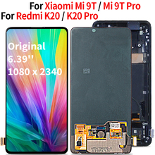 Originale Display LCD Da 6.39 per Red mi K20 Pro Display LCD Touch Screen Digitizer Assembly Con Telaio per Xiao mi mi 9 T/9 T Pro