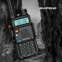 baofeng uv5r Baofeng UV5R מכשיר הקשר מקצועי CB רדיו 5W UV הלהקה כפול שני רדיו דרך מכשיר הקשר במוסקבה ציד Ham Radio (5)