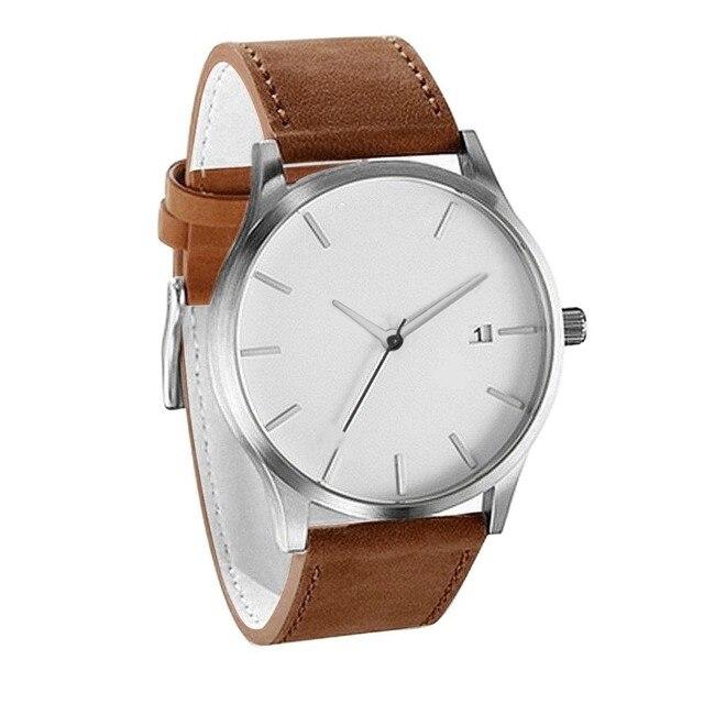 Luxury Watch Men Leather Ultra-thin Stainless Steel Black Bracelet Wristwatches Male Watch Clock Reloj Hombre Relogio Masculino 3