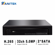 H.265/H.264 32CH 5.0MP ONVIF UHD 4K 25CH NVR DVR Video Recorder IP Camera Surveillance Security CCTV System 2 SATA Support 8TB