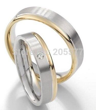 Les meilleurs paramètres personnalisés de bijoux de santé remplis de couleur or et d'anneaux de mariage pour femmes et hommes