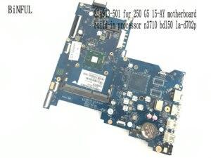 Image 2 - BiNFUL Available, nouvel article Carte mère pour ordinateur portable HP LA D702P, processeur N3710, carte mère BDL50 250, processeur N3710