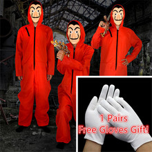 Salvador Dali Costume Face Mask Movie The House of Paper La Casa De Papel Cosplay Party Halloween Mask Money Heist Free Gloves
