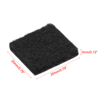 uxcell Furniture Pads Adhesive Felt Pads 20mm x 20mm Square 3mm Thick Black 28Pcs