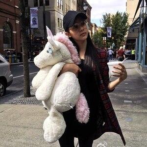 30,50,65 см милый единорог украшение плюшевая кукла, игрушка-подушка большой Ragdoll подарок на день рождения детский фестиваль талисман