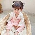 Yg brand children's wear new color contrast long sleeve baby Hanfu new born one-piece Korean climbing suit