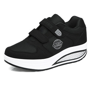 Image 3 - Женские туфли на плоской подошве, повседневные светильник туфли из дышащего материала, на платформе, для похудения, модель 2020 года