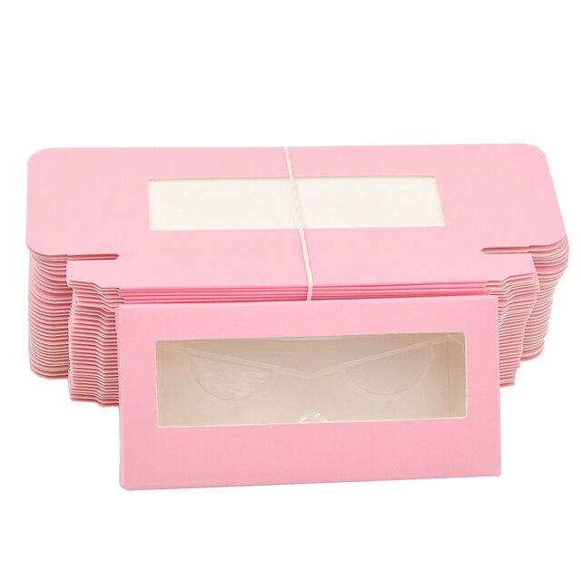 Wholesale Eyelash Packaging Box Lash Boxes Package Custom Without Tray Dark Pink Rectangle Cardboard Makeup Storage Case Vendor 2