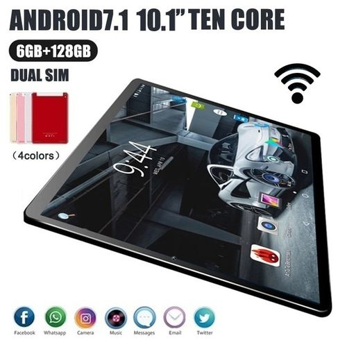 10.1 Inch Android 8.1 IPS 1280x800 Tablet PC 10 Core Dual Camera 5.0MP RAM 6GB+ROM 128GB/64GB 4G Call Phone WiFi Bluetooth GPS