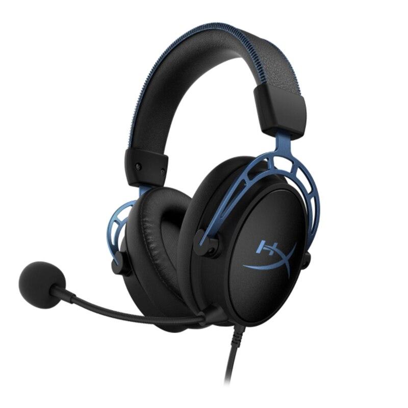 [해외] Kingston hyperx cloud alpha s 클라우드 e-스포츠 헤드폰 (pc 게임용 헤드폰 용 마이크 헤드셋 포함)