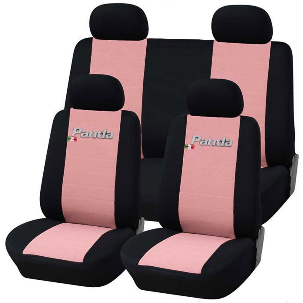 DAL 2012 CARTAZ COPRISEDILI AUTO FIAT PANDA. 50/50 ROSA-NERO BICOLORE