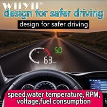 Wiiyii x6 hud obd2 cabeça up display carro 3 Polegada excesso de velocidade sistema de aviso segurança brisa projetor tensão alarme