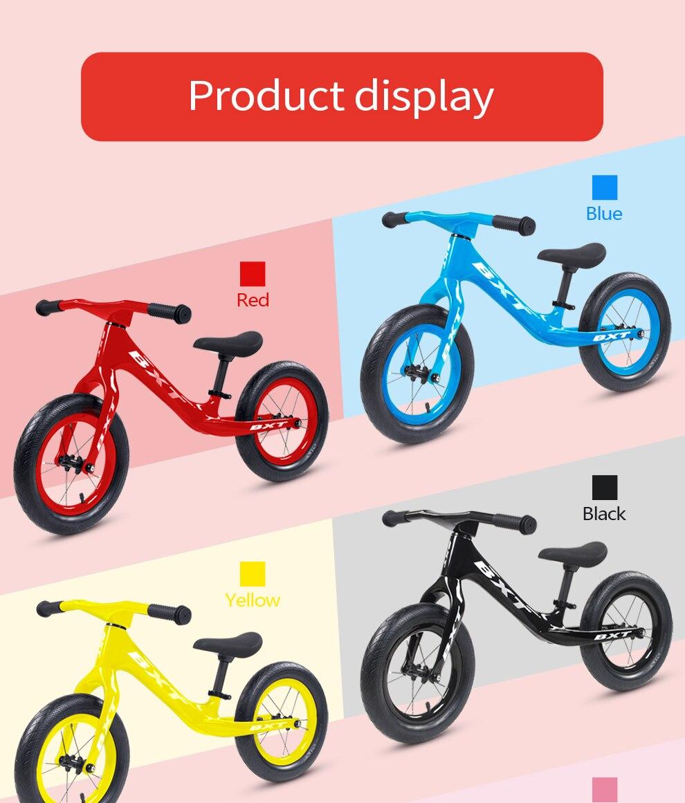 crianças bicicleta de carbono equilíbrio para 2