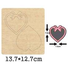 Сердце форма лук кулон резки древесины матрицы 2020 Новый высечки
