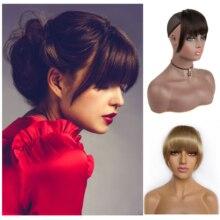 Bangs Hair Brazilian Human Hair Blunt Bangs Dark Brown Clip In Human Hair Extension Non-Remy Beautiful Princess Hair Bangs