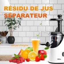 Masticating Juicer Fruit and Vegetable Juice Extractor Compact Mixer Juicer Food Processor Juicer Machine