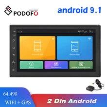 Podofo androidのカーラジオマルチメディアプレーヤー 2 din 7 タッチスクリーンautoradio bluetooth fm wifi aux 2DIN gpsオーディオプレーヤーステレオ