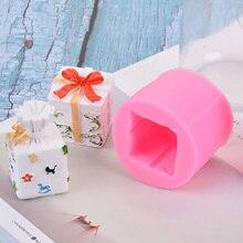 Полимерная форма квадратная Подарочная коробка силиконовая литьевая форма с рисунком листьев для глины Смола домашний орнамент изготовление ремесленных принадлежностей