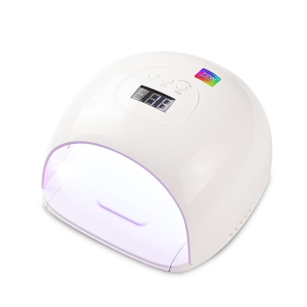 Lampe à UV LED 72 watts plus rapide sèche-ongles pour Gel vernis Salon qualité professionnel Gel lampe automatique capteur ongles Art outils