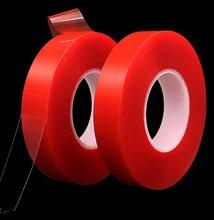 Суперпрочная Клейкая Двусторонняя прозрачная двусторонняя красная
