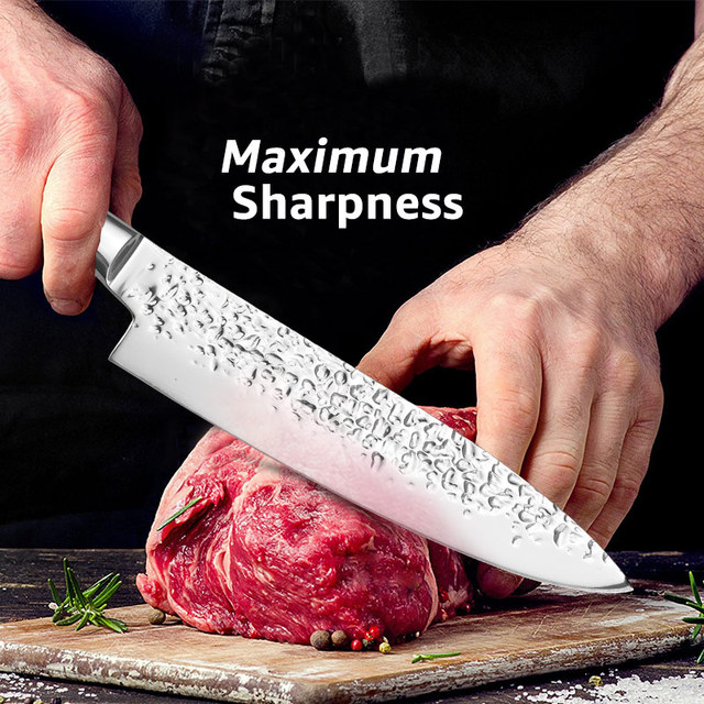 Japanese 7CR17 Stainless Steel Chef Knives 6