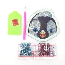 5D DIY Special Shaped Diamond Painting stickers Kit Wallet Penguin Coin Purse Keychain Bag Pendants Christmas Gift(China)