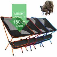 Silla plegable ultraligera para acampar, pesca, barbacoa, silla para senderismo, pesca, silla para pícnic, herramientas al aire libre, asiento de playa plegable de viaje