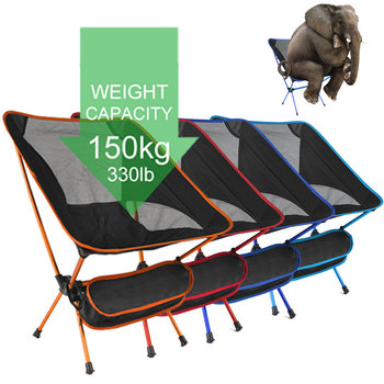 Ultralight Folding Camping Chair Fishing BBQ Hiking Chair Fishing Picnic Chair Outdoor Tools Travel Foldable Beach Seat Chair