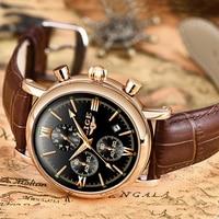 2019 LIGE biznes skórzana moda wodoodporny zegarek kwarcowy dla mężczyzn zegarki Top marka luksusowy mężczyzna data zegar Relogio Masculino