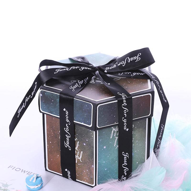 Hexagon Surprise Explosion Box DIY Handmade Scrapbook Photo Album Wedding Gift Box for Valentine Christmas Gift Boxes 6