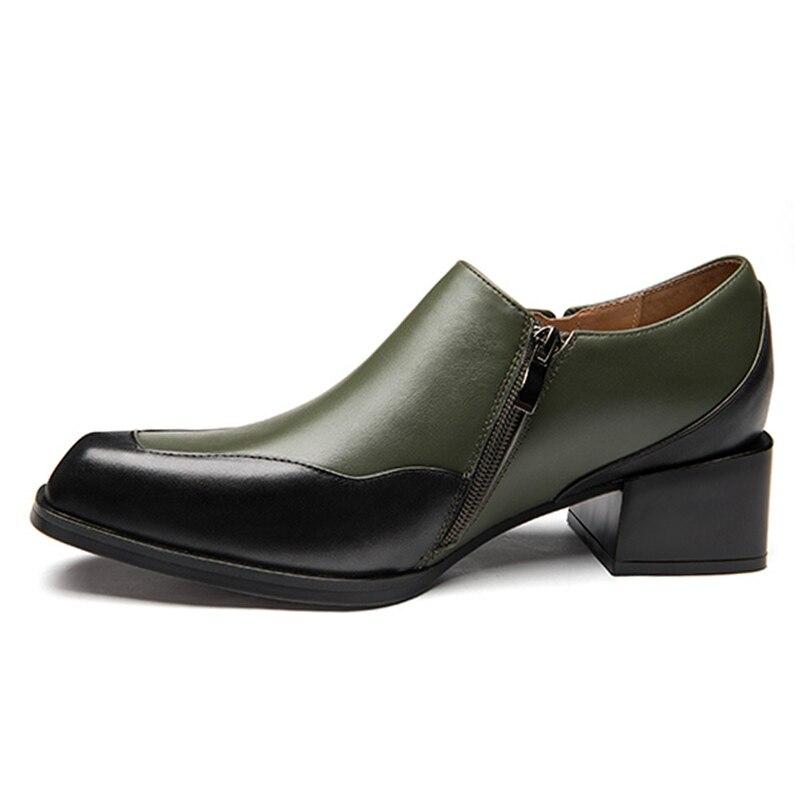 Новое поступление; мужские слипоны с квадратным носком, визуально увеличивающие рост; обувь для банкета; мужские повседневные лоферы из нат... - 2
