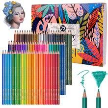전문 수채화 물감 연필 48/72/150 컬러 아트 드로잉 연필 번호가 매겨진 수채화 기술 미술 용품