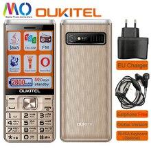 Oukitel L2801 Cellphone 2.8 inch 2800mAh Triple SIM card Older Senior Mobile Phone Camera Music Bluetooth Java MP3 Player Torch