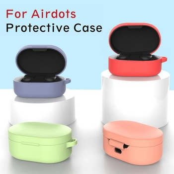 Silicone Case For For Xiaomi MI Redmi AirDots Headphones Protective Cover TWS Bluetooth Earphone Wireless Headset Case image