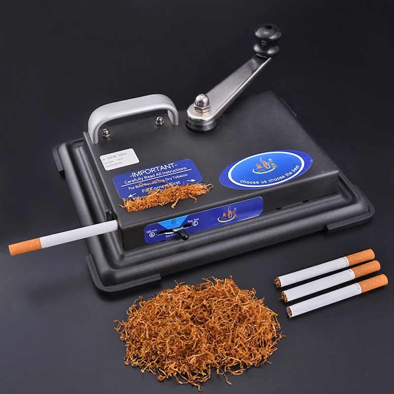 Rolling machine for cigarette metal tobacco roller gadgets for men manual injector cigarettes maker gift smoking.jpg q50
