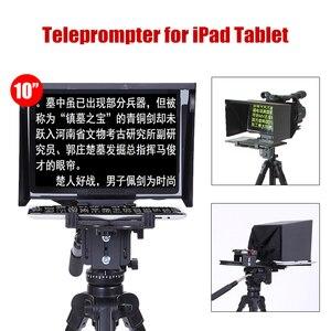 Image 1 - Teleprompter de 10 pulgadas para tableta iPad, para entrevista al aire libre, voz, cámara DSLR, lector de Prompter