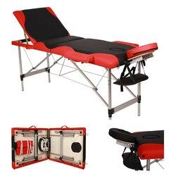 3 Secties Draagbare Opvouwbare Aluminium Massagetafel Spa Bed Met Draagtas Schoonheidssalon Therapie Massage Bed Behandeling 60 Cm breed