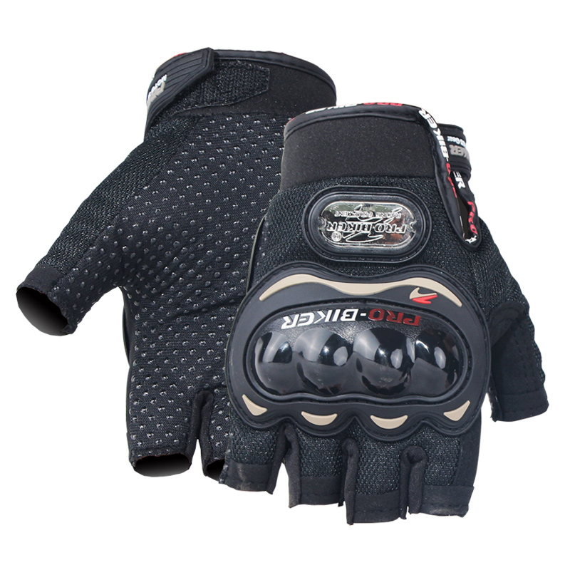 Motorcycle Fingerless Gloves Men Women Half Finger Tactical Gloves Breathable Anti-collision No-slip Cycling Hard Fist Protector