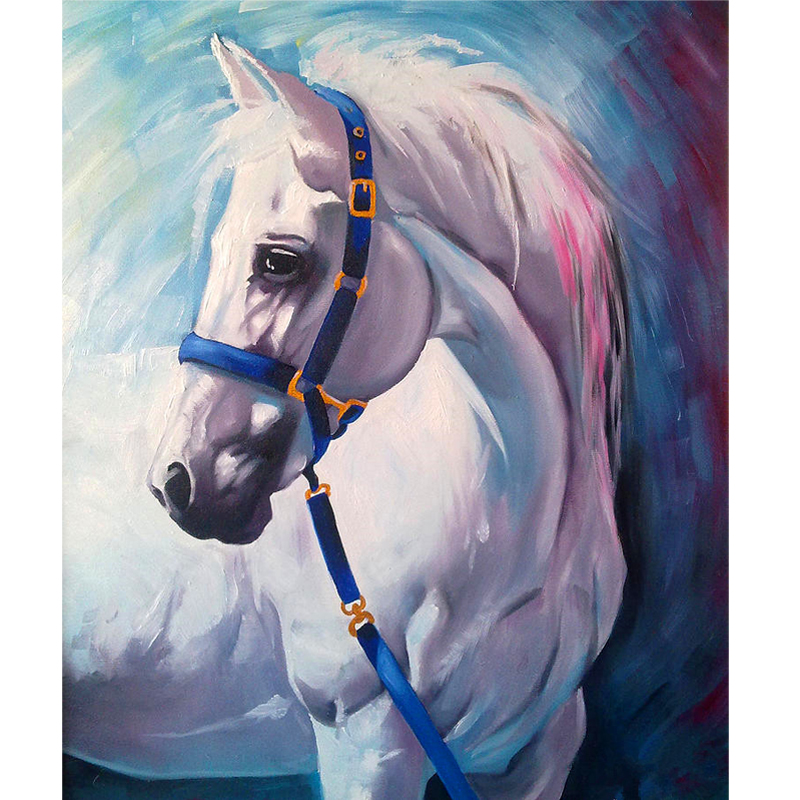 Frameless Diy Painting By Numbers Paint Horse Picture For Home Decor For Living Room 4050cm Drop Shipping