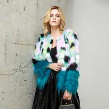 все цены на New Shaggy Faux Fur Coat Women Winter Warm Hooded Fur Jacket Streetwear Outwear Overcoat Elegant Fake Fur Hood Coat Pocket онлайн