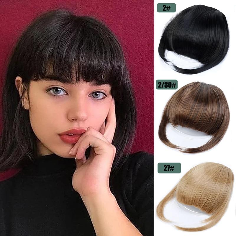 20 цветов челки с зажимом для бахромы шиньон для наращивания волос для женщин термостойкие синтетические искусственные шиньоны