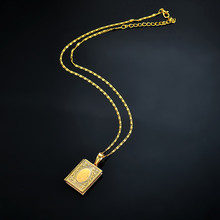 NJ Simple New Retro Ethnic Wind Totem Necklace Letter Fashion