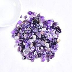 50 г/100 г с натуральными кристаллами гравия, образец розового кварца, аметист, домашний декор, красочный для аквариума, лечебная энергия, мине...