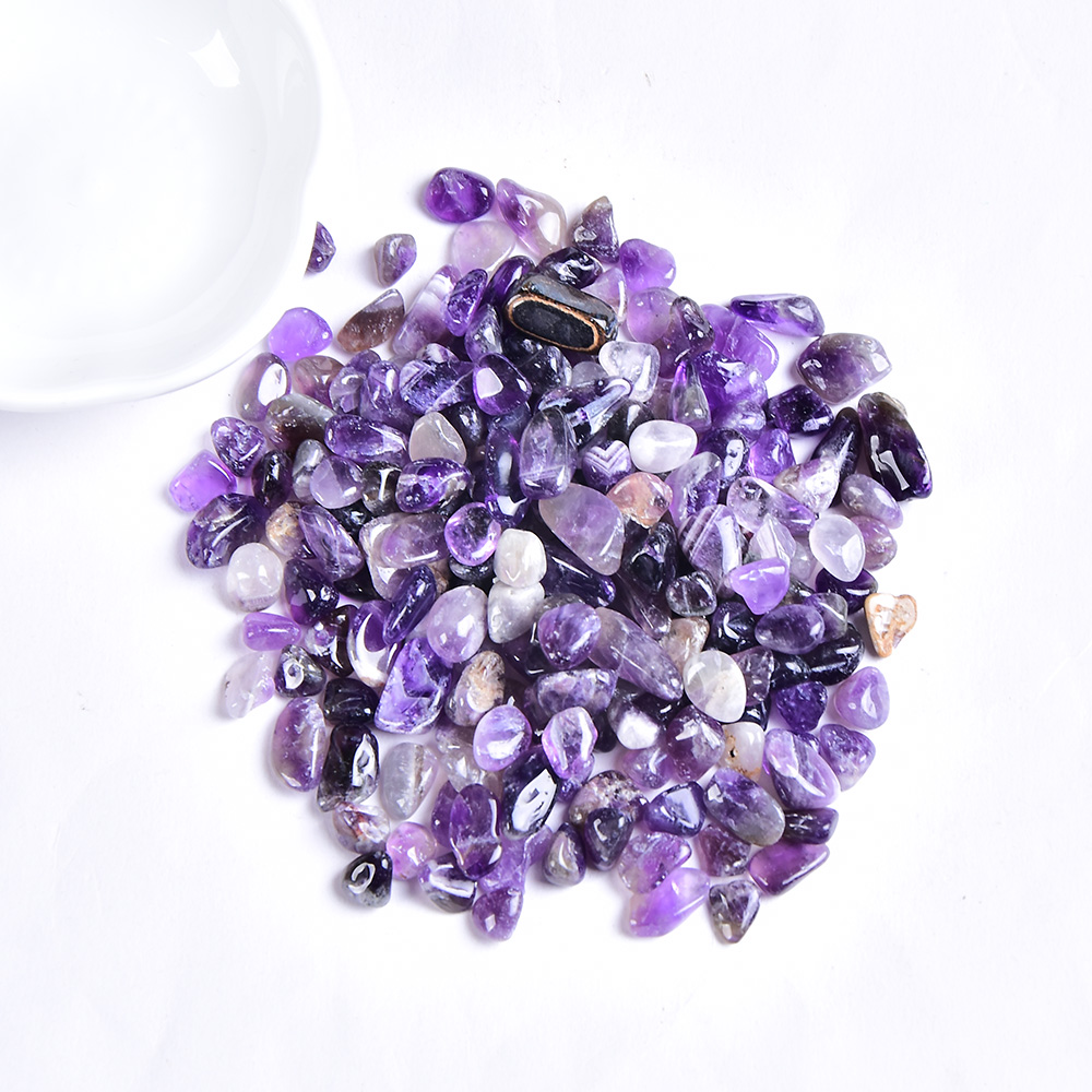 50g/100g Natural crystal Gravel Specimen Rose Quartz Amethyst Home Decor Colorful for aquarium Healing Energy Stone Rock Mineral(China)