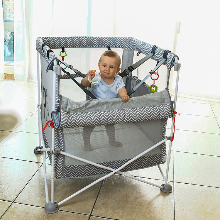 Baby Kids Trampoline With Safety Net Seat Belt Baby Sleeping Bed Interactive Game Jumping Bed Playpen Seguridad Infantil Cama