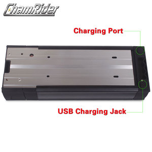 Image 4 - 48V ebike battery case 36V 52V 60V 72V Electric bike battery box 5V USB Double Layer luggage rack 10S10P 13S9P 14S8P 16S7P 20S5P