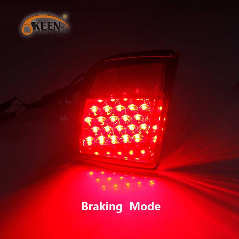 2 Pcs Led Rear Bumper Reflector Voor Toyota Land Cruiser 200 LC200 2008 2009 2010 - 2015 Staart Achter Fog lamp Rem Waarschuwingslampje