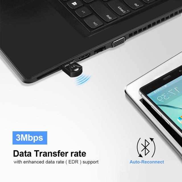 Wireless USB Bluetooth Adapter 5.0 for Computer Bluetooth Dongle USB Bluetooth 4.0 PC Adapter Bluetooth Receiver Transmitter 3